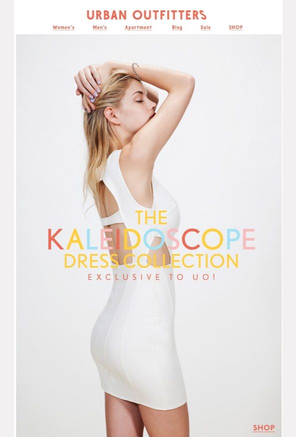 urban_outfitters_kaleidoscope_dress_collection_email_marketing_design_winner