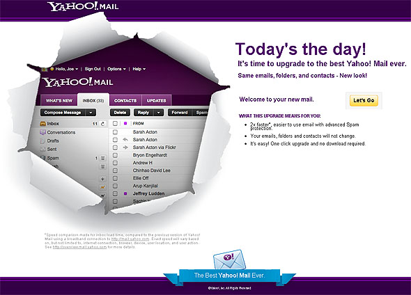 New Yahoo! Mail webmail client launched