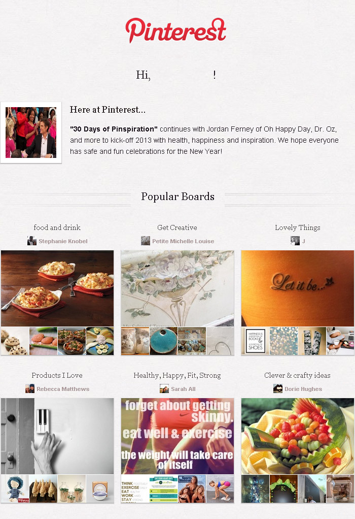Pinterest email marketing: how do they do it themselves?