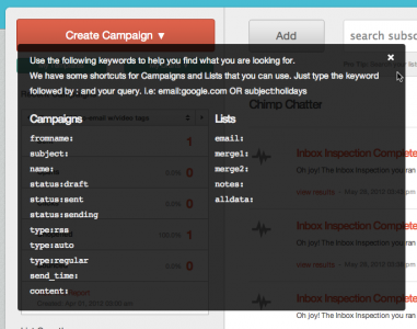 MailChimp updates platform to v7.9: search filters, my campaigns, more