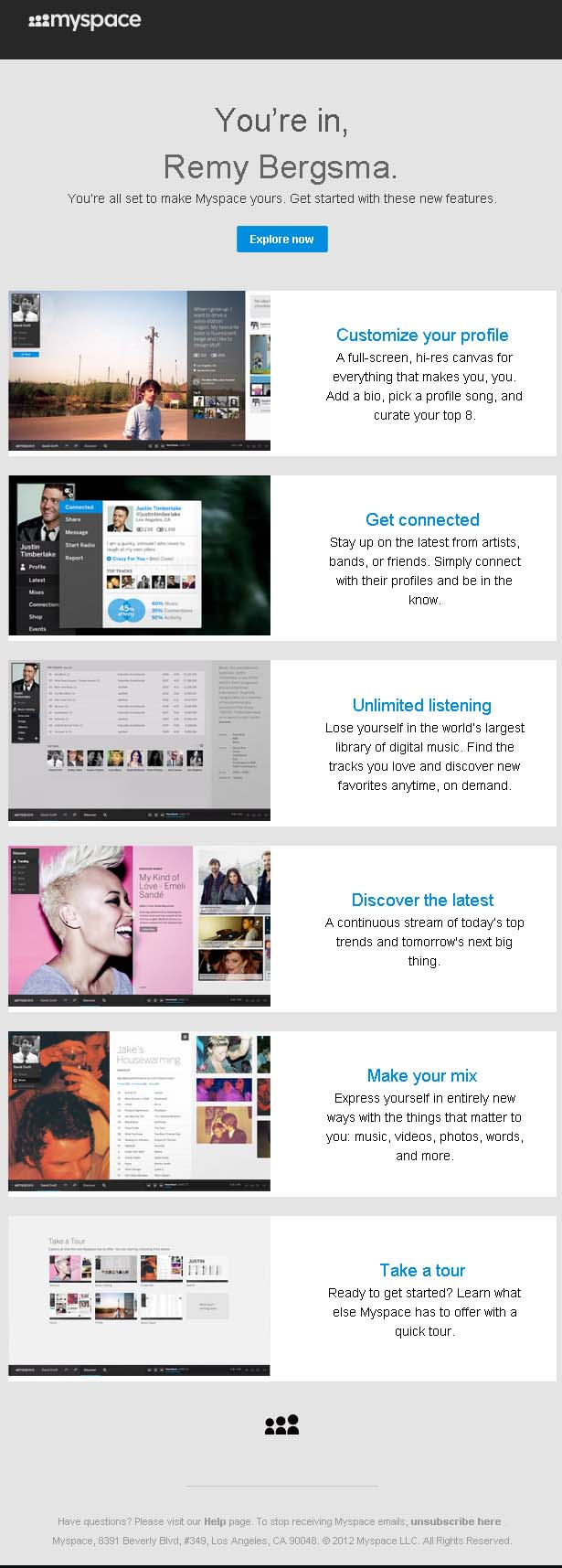 new_myspace_welcome_email_marketing_campaign