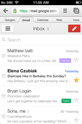 Google updates mobile Gmail webmail and Gmail offline