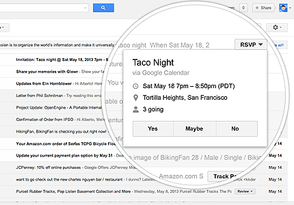 Gmail action buttons: making email more interactive