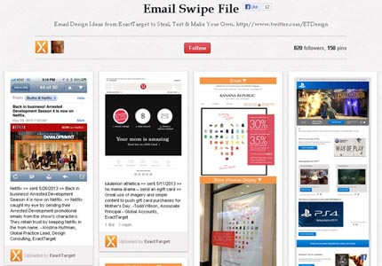 ExactTarget Email Swipe File on Pinterest