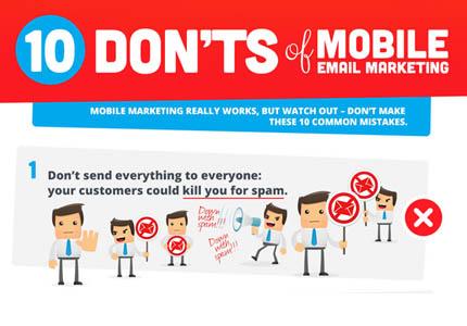 Mobile email marketing infographic -10 don'ts - Emailblog.eu