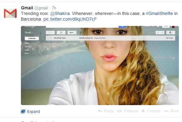 gmail-shelfie-shakira-april-fools-joke