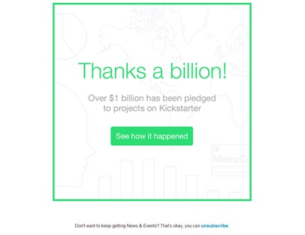Kickstarter celebrates $1 billion pledged milestone