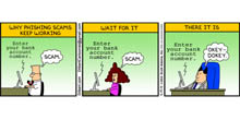 Email comic: Why phishing scams and spam still works