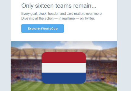 Twitter Worldcup promotion: an animated second round