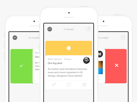 Morning Mail app for iOS: one email at a time