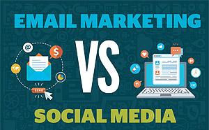 Email marketing vs social media infographic