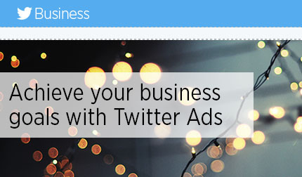Twitter New Year email for Business: simple and animated