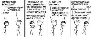 Figuring out what email is – XKCD email comic