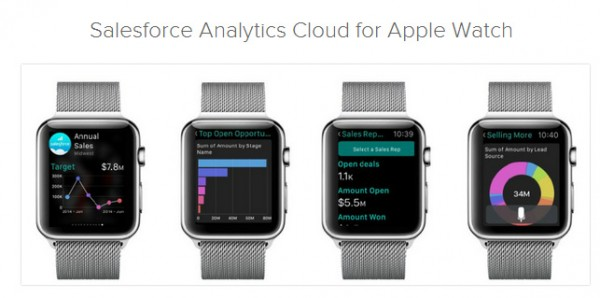 Salesforce for Apple Watch introduced