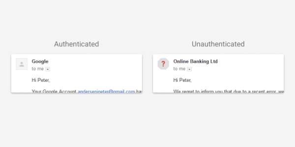 Gmail security updates with SPF, DKIM warnings